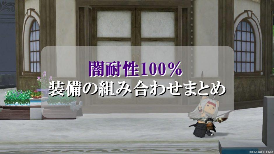ドラクエ10闇耐性100