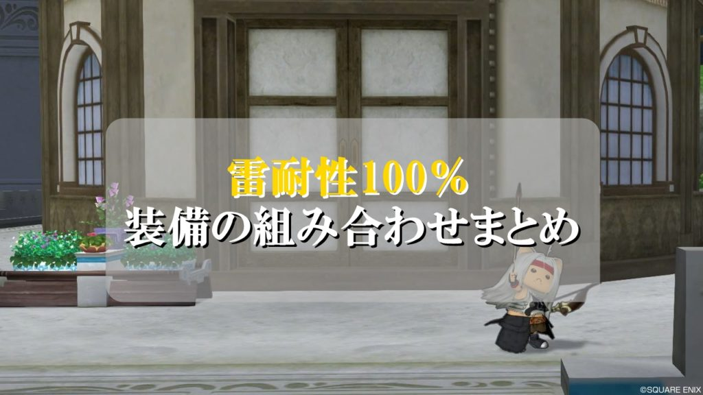 ドラクエ10雷耐性100
