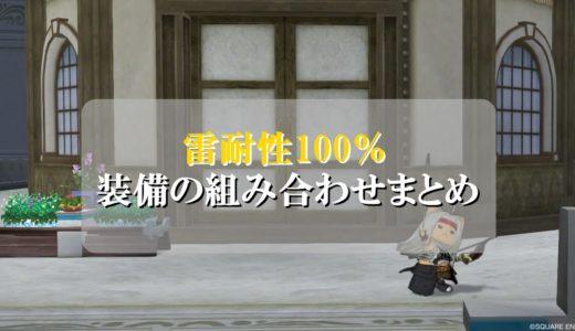 ドラクエ10雷耐性100%装備の組み合わせ!初心者向けに徹底解説